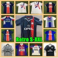 98 99 PSG rétro Soccer Jersey Okocha 1990 1991 1992 1993 1994 Camisas de Futebol 1995 1996 1998 Chemise de football 1998