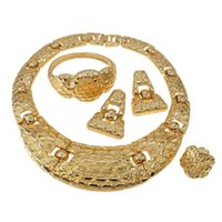 أقراط قلادة yoomuna بيع البرازيل الذهب الفاخرة النحاس مجوهرات الزفاف مجموعة سوار إيطالي القرط الدائري أربع مجموعات