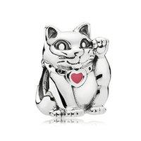 Nouveau hibou chien Paw imprimé chat chat théière chat heart pangle perles ajuster digue pandora charmes argent couleur bracelets de bricolage bijoux bricolage femmes