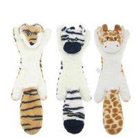 Novo bonitinho brinquedos de pelúcia squeak animal de estimação lobo coelho animal pelúcia brinquedo cachorro mastigado chilreio assobiando envolvido esquilo cão brinquedos 585 s2