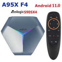 A95X F4 Android 11 Scatola TV AMLogic S905x4 Smart 4K 4 GB RAM 32GB 64 GB 128 GB ROM 2.4G / 5 GHz WiFi + G10S Controllo vocale G10