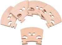 Lote de 10 piezas de arce 4/4 Piezas de puente de violín de tamaño completo