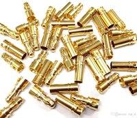 2 мм 4 мм 5 мм 8 мм Золотая пуля Банановый разъем Разъем Мужской Женщина Толстые Позолота для ESC Батарея 100 Пар включена