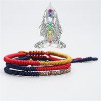 Tibetan Buddhist Braided Lucky Knots Bracelet For Man Women Handmade Rope Size Adjustable Charm Bracelets