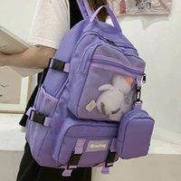 Joypessie Женщина рюкзак Водонепроницаемый нейлон Mochila для девочек-подростковых девушек высокая емкость ноутбук rucksack мода школьная сумка bagpack men lj210203