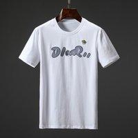 Homens camisetas Verão Mangas curtas Moda Impresso Tops Casual Mens de Outros Tees Da Tripulação Pescoço Roupas 21s 7 Cores M-3XL