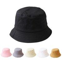 Moda de color sólido Bucket Hat Spring Verano Pescador al aire libre Lady Girls Beach Papas de sol