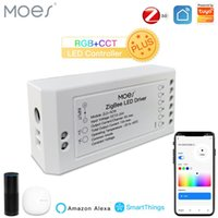 스마트 홈 컨트롤 Moes ZigBee 3.0 Dimmer 모듈 Swtich RGB CCT led Strip Life Tuya App Alexa Echo Goolge