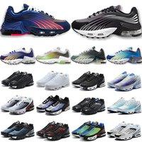 رجال نساء احذية الجري مضبوطة الترا تدريب ثلاثي أبيض أسود غروبair max plus 3 vapormax
