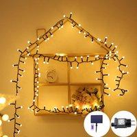 Strings Led Ball Lamp String Christmas Lantern Outdoor Waterproof Solar Garden Decorative Light Garland Sun With Battery Fairy Lights