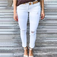 Women's Jeans Ripped For Women Sexy Skinny Denim Fashion Street Casual Pencil Pants Female Spring And Summer Clothing#f3
