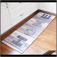 Mats Accessories Bath Home & Garden Drop Delivery 2021 Print Bathroom Mat Carpet Living Room-Bed Room Anti-Slip Rugs For Kitchen Floor Long D