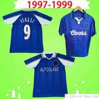 1997 1998 1999 Retro Soccer Jersey Vialli # 25 Zola 97 98 99 Home Blue خمر قميص كرة القدم الأعلى موحدة الكلاسيكية موحدة خاصة تيري فلو بوتي