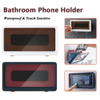 Bathroom Phone Holder Case Waterproof Storage Box Wall Mount Covered Mobile Phone Shelves Toilet Phone Storage Handsfree Gadget