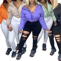 Femme Pain Capuche à capuche Mode Fashion Occident Tendance à manches longues Zipper Down Down Vestes Designer Femme Hiver Casual Slim Slim Vêtements d'extérieur chauds