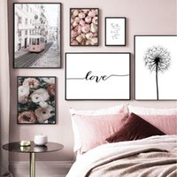 Paintings Islamic Calligraphy Canvas Painting Mural Printing Pink Beige Moroccan Door Poster Picture Living Room Interior Home Decoration