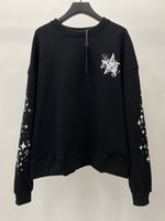Mens Hoodie new Men Sweatshirts High Quality embroidery Letter pentagram Print Casual Pullover Fashion Brand Classic Pure cottone jumper women Clothing