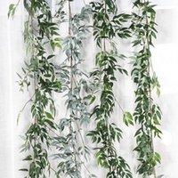 Декоративные цветы венки Baffy Высокое качество 1.65M Симулятор для симуляции Willow Twig листья виноградника DIY домашний сад партии украшения искусственного цветка