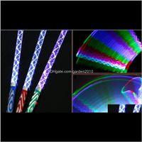 Luz iluminado presentes entrega entrega 2021 LED Glow Glow varas coloridas flash mudadas varinha para crianças brinquedos de Natal concerto festa de aniversário sup
