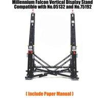 Schwarzes MOC-Millennium Spielzeug Falcon-vertikaler Display-Standstand kompatibel mit der Nr.05132 und Nr.75192 ultimatives Sammlermodell 210416