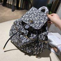 Mochila de moda Unisex Backpacks Bom School Bag duas cores para escolher carta Imprimir 26_1whp14