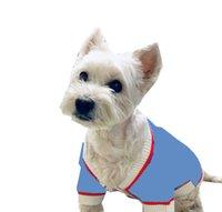 Mavi Köpekler Kazak Ceket Giyim Mektup Jakarlı Ceket Pet Köpek Giyim Corgi Bulldog Kaniş Köpek Giyim