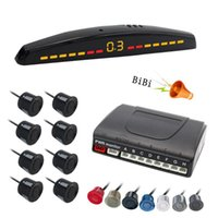 Car Rear View Cameras& Parking Sensors LED Display 8 Sensor Auto Parktronic Kit Radar Buzzer System For Front Bumper Detector