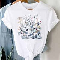 Women's T-Shirt T-shirts Women 90s Plant Floral Watercolor Ladies Spring Summer Clothes Graphic Tshirt Top Lady Print Female Tee