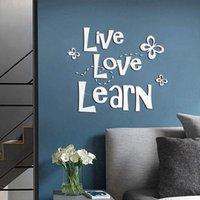 Pegatinas de pared Etiqueta engomada de acrílico Arte Matterfly DIY Calcomanía Verde Innoolidable Decoración del hogar