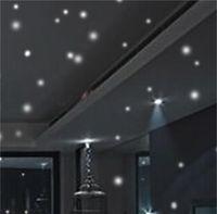 Hot Glow In The Round Dot Stella Stella Stickers Adesivi murali in vinile luminosi come Star nella notte Compleanno festa romantico 639 S2