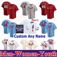 남성 여성 청소년 2021 올스타 게임 야구 유니폼 세인트 루이스 추기경 46 폴 Goldschmidt 4 Yadier Molina 1 오지 스미스 25 덱스터 파우 러