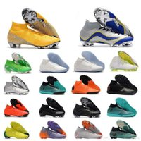 Top Quality Mens Women Kids CR7 Football Boots Superfly VI 360 Elite Neymar FG TF IC Shoes Outdoor Soccer Cleats wisdonm