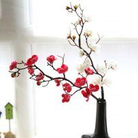 Dekoratif Çiçekler Çelenk Yapay Çiçek Kiraz Bahar Erik Şeftali Çiçeği Şube 60 cm Ipek Ağacı Tomurcuk Düğün Dekorları Için
