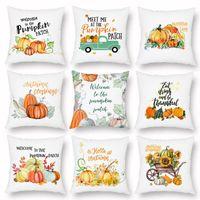 Cushion Decorative Pillow 45x45cm Lash Case Halloween Cotton Linen Throw Covers Bed Couch Sofa Cushion Cover Pillowcase Thanksgiving Gift
