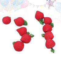 قوالب الخبز 1 حزمة الفاكهة الفاكهة الفاكهة الخضروات مصغرة الرايم رئيس مع حمراء الجلد المطبخ الخضروات ديكورات مصغرة الفجل
