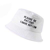 يرجى التحلي بالصور لدي التوحد إلكتروني طباعة دلو قبعة الرجال النساء الصياد القبعات الصيف الصيد الصيد كاب المتناثرة H0828