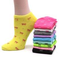 10pair calcetines de las mujeres corta caramelo color dot lindo arte calcetines hembra delgado tobillo algodón mezcla calcetines bajo corte calcetín chaussettes femmes