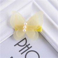 Baby Schöne Schmetterling Haarspange Fairy Prinzessin Haar Haarnetz Tüll Netto Stoff Perle Barrettes Kinder Mädchen Haarschmuck Geschenk 175 y2