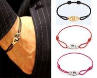 França famosos jóias dinh van pulseira para mulheres moda jóias 925 esterlina corda de prata handcuff bracelete menottes DFF0706