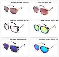 نظارات شمسية 3 حديد توني الرجعية إطار كبير مكبرة فوق البنفسجية نظارات الشمس مقاومة للأشعة فوق البنفسجية تبقي من الرياح نظارات النساء والإنسان الملحقات HWC7404