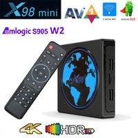 X98 Mini Smart TV Box Android 11 4GB RAM 64GB 32GB Amlogic S905W2 2.4G 5G Wifi 4K 60fps Set TopBox X98Mini 2GB 16GB vs H96 Max