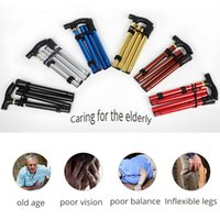 Trekking Sticks zusammenklappbarer Stock Falten Trusty Walking Wanderung Laufrohrpfähle für ältere Eltern-Stick