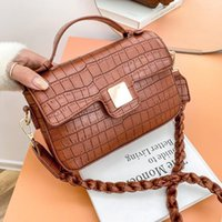 Fashion Leather Stone Pattern Flap Purses and Handbags Cute Side Bag 2021 Women's Trend Shoulder s for Women Designer
