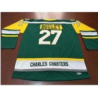 Пользовательские 009 Молодежные женщины старинные Чарльзы Charters # 27 Logan Boulet Humboldt Broncos Hockey Jersey Размер S-5XL или пользовательское любое имя или номер