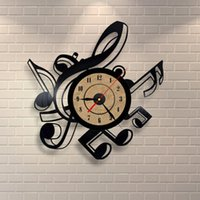 Wall Clocks 2021 Creative Novelty Living Room Vintage Retro Clock Musical Themes CD Record Large 3D Home Decor Watch