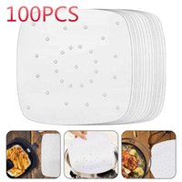 Sheets Air Fryer Square Baking Paper Silicone Oil For Buncake Saucer Non-stick Steaming Basket Mat Tools Rolling Pins & Pastry Boards