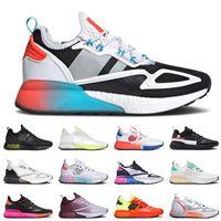 Ultra zx 2k zapatas para correr hombres mujeres blancas multi púrpura tint soalr amarillo rojo gris señal cian outdooe entrenadores tenis zapatillas de deporte 36-45
