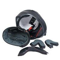 Cascos de motocicleta Flip Up Sistema de visor dual de casco Ajuste de cara completa para hombres Mujeres S M L XL Disponible