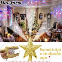 Weihnachtsdekorationen Ourwarm Tree Topper Glitter beleuchtete Stern mit einstellbaren rotierenden magischen Projektor Dekoration1