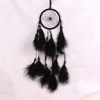 الجملة- 1 قطع dreamcatcher الهند نمط اليدوية حلم الماسك صافي مع الريش الرياح الدقات شنقا carft 2124 v2